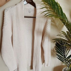 Long Cozy Cream Sweater (barely used)